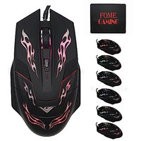 USB Wired Gaming Mouse,FOME GAMING Translucent Gaming M