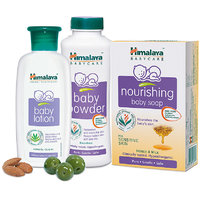 Combo Of Himalaya Baby Lotion 200 Ml+ Baby Powder 200gm + Baby Nourishing Soap 75g