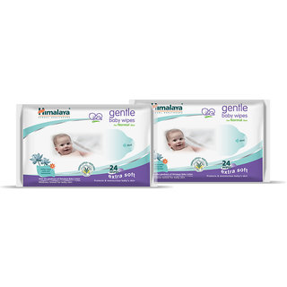 Himalaya Baby Wipes 24S (Pack Of 2)
