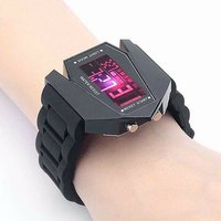 LED Aircraft Model Wrist Watch With Red LED Light --- D