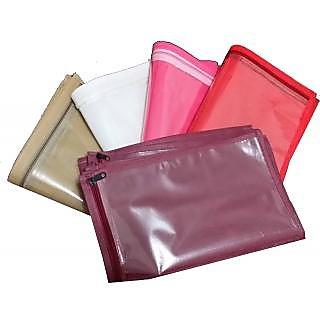 (20 PC )Oneside Clear Plastic Clothes Sari Saree Garment Storage , cover Bags