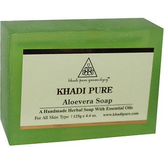 Khadi Pure Herbal Aloevera Soap - 125g