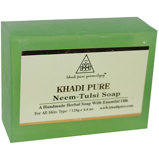 Khadi Pure Herbal Neem Tulsi Soap - 125g