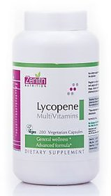 Zenith Nutrition Lycopene With MultiVitamins - 200 Capsules