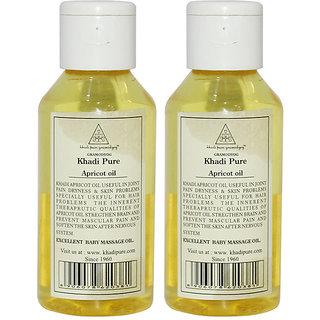 Khadi Pure Herbal Apricot Oil - 100ml (Set of 2)