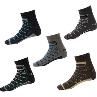 K decorative Mens Set Of 5 Socks