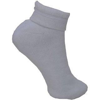 Oshop Trades Men's Ankle Length Socks-kvidanklewhitepc01