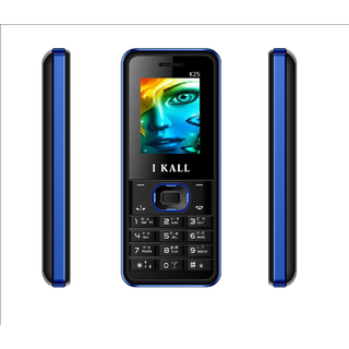 IKall K25 (Dual Sim 1.8 Inch Display 800 Mah Battery Made In India  Black-Blue) (No Earphones)
