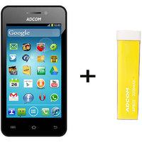 Combo Of Adcom A400 - Black + APB 2200mAh Powerbank- Yellow