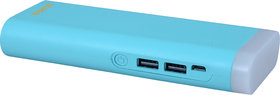 Orenics tall torch with 2 USB ports 10000 mah power bank(blue)