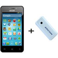 Combo Of Adcom A400 - Black + APB 4400mAh Powerbank- White