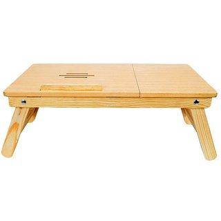 Earthwood - Laptop Foldable Table for Multipurpose (Natural Colour)