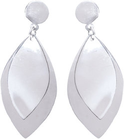 Verra Leaf Sterling Silver Earrings