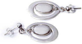 Verra Double Oval Sterling Silver Earrings