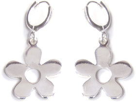 Verra Flowers Shaped Sterling Silver Earrings