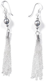 Verra Chain Drop Jhumka Style Sterling Silver Earrings