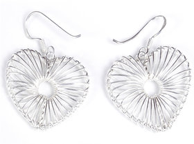 Verra Fall in Love Heart Shaped Sterling Silver Earrings
