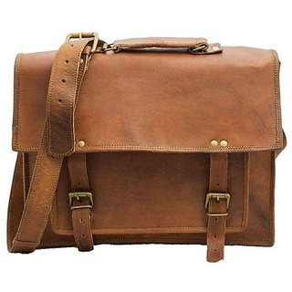 13b01409a0dc Buy IN-INDIA Vintage STyled Unisex Brown Pure Leather Casual Office Bag  9inchx11inch Online   ₹1699 from ShopClues
