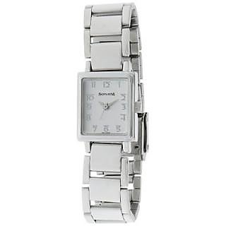 Sonata Quartz White Dial Women Watch-8080SM02