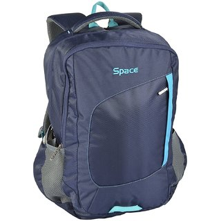 Buy Space Polyester 35 liters Grey Laptop Backpack Online - Get 0% Off e35339a21dabe