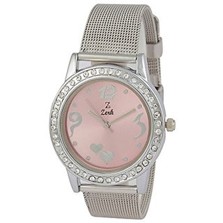 Zerk Quartz Pink Dial Women Watch-W104