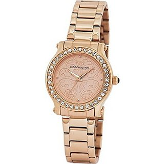 Gio Collection Quartz Rose Gold Dial Women Watch-G2004-33