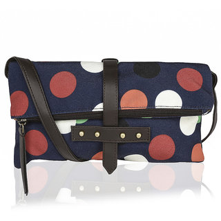 Kleio Casual One Fold Canvas PU Printed Sling for Women and Girls