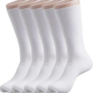 Mens Cotton Socks White Pack of 12