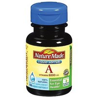 Nature Made Vitamin A, 8000 IU, Softgels, 100 Ct.