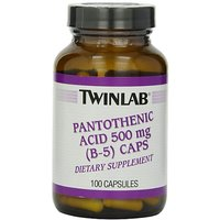 Twinlab Pantothenic Acid (B-5) Caps, 500mg, 100 Capsules (Pack Of 3)