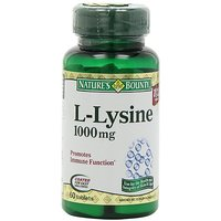 Nature's Bounty L-Lysine, 1000mg, 60 Tablets (Pack Of 4)
