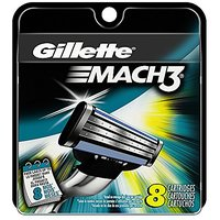 Gillette Mach3 Men's Razor Blade Refills, 8 Count, Mens Razors / Blades