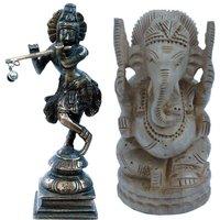 UFC Mart Buy Brass Lord Krishna Idol N Get Ganesha Idol Free