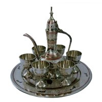 UFC Mart White Metal Antique Royal Wine Set Handicraft