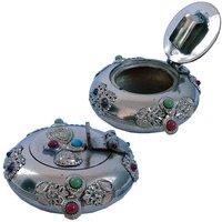 UFC Mart Pure Brass Gemstone Ash Tray Handicraft Gift