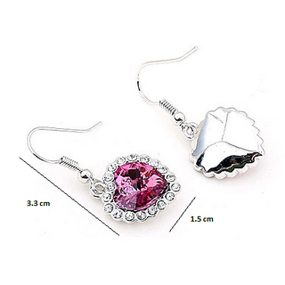 Amrozia Heart of the ocean Austria crystal pink love Ocean Star Earrings