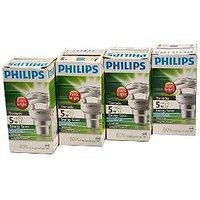 Set Of 4Nos Philips 5W Tornado Energy Saving Lamp