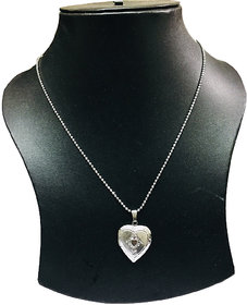 Xoonic's Thin Chrome plated Chain with heart shaped pendant