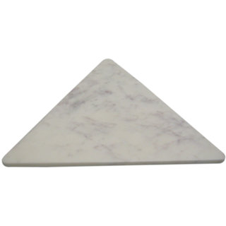 White Marble Triangle Shape Trivet
