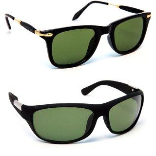 ba241289f7d Buy TheWhoop Combo Black Golden Latest Wayfarer And Black Green Sports  Sunglasses Online - Get 59% Off
