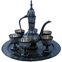 UFC Mart Antique Royal Wine Set Black Metal Handicraft