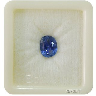 Fedput 5.25 Ratti BLUE SAPPHIRE ( NEELAM / NILAM STONE ) 100  ORIGINAL CERTIFIED NATURAL GEMSTONE AAA QUALITY