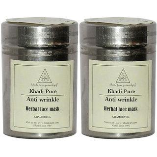 Khadi Pure Herbal Anti Wrinkle Face Mask - 50g (Set of 2)