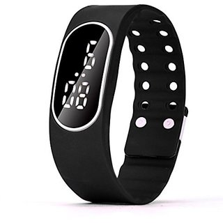 Digital LED Oval Digital Black Dial Watch