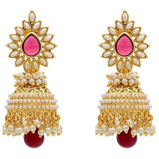 Penny Jewels Exclusive Gold Plated Handmade Gorgeous Classic Jhumki Set For Women  Girls