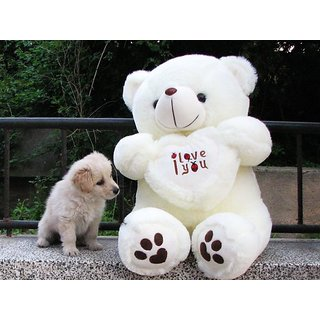 9a76013411bc4 Buy 90 CM Big I Love You Teddy Bear (White) Online - Get 30% Off
