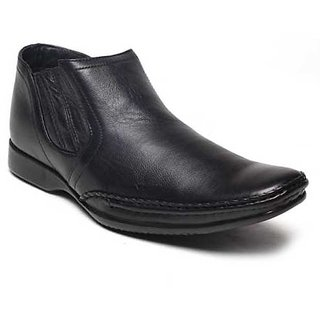 Franco Leone BLACK Slip On Formal Shoes