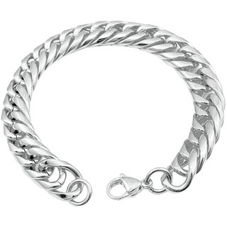 Men Style Link Chain Bracelet Silver Stainless Steel Round For And Boys