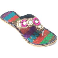 Forever Solutions Women's Multicolor Ethnic Flats