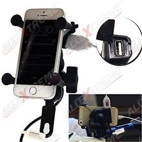 Mobile Holder with USB Charger and Stand for Bike (UNIVERSAL)